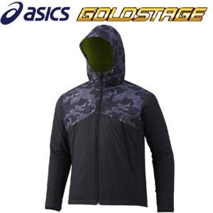 アシックス ゴールドステージ ウインドアップジャケット ブラック BAW010|kitospo