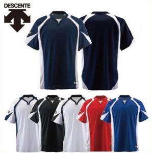 野球 ユニフォーム ベースボールシャツ デサント DB-113 レギュラーシルエット|kitospo