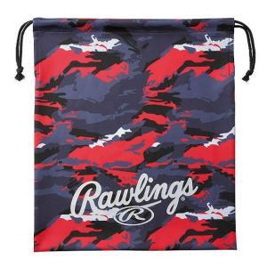 (即日発送)ローリングス グラブ袋 カモ ブラック/レッド EAC9S02 マルチバッグ シューズ袋|kitospo