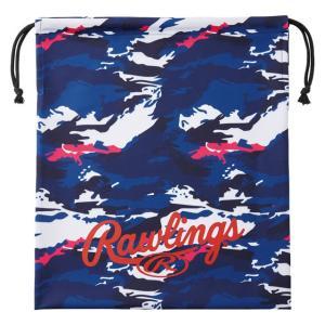 (即日発送)ローリングス グラブ袋 カモ ネイビー/ホワイト EAC9S02 マルチバッグ シューズ袋|kitospo