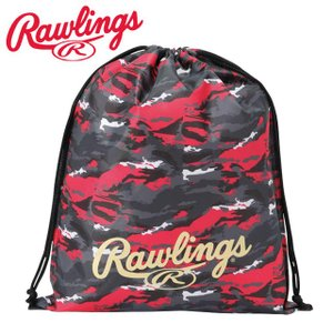 (即日発送)ローリングス マルチバッグ カモ ブラック/レッド ESC9S03 グラブ袋 シューズ袋|kitospo