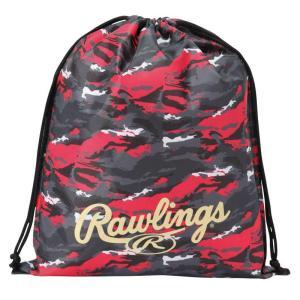 (即日発送)ローリングス マルチバッグ カモ ブラック/レッド ESC9S03 グラブ袋 シューズ袋 kitospo 02