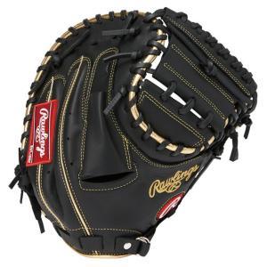 (即日発送)ローリングス 軟式野球用キャッチャーミット ハイパーテック R2G GOLD ブラック GR9FHTC2AF|kitospo