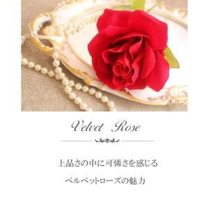 【薔薇 造花】【造花 薔薇】【最高級ベルベット...の詳細画像1