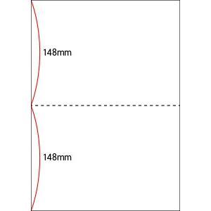 A4 ミシン目用紙 2分割タイプ 色上質(クリーム)【厚み:コピー用紙(35kg)】2000枚|kiuchi-printing|02