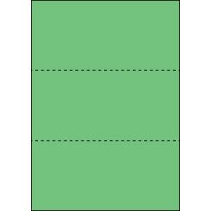 A4 ミシン目用紙 3分割タイプ 色上質(若竹)【厚み:コピー用紙(35kg)】2000枚|kiuchi-printing