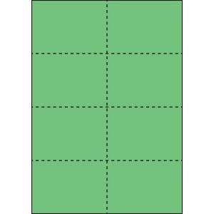 A4 ミシン目用紙 8分割タイプ 色上質(若竹)【厚み:やや厚め(44.5k)】2000枚|kiuchi-printing