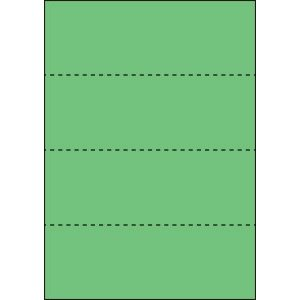 A4 ミシン目用紙 横4分割タイプ 色上質(若竹)【厚み:やや厚め(44.5k)】2000枚|kiuchi-printing