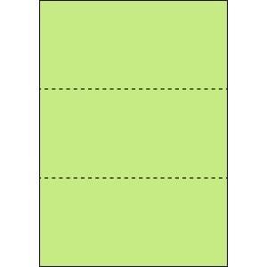 A4 ミシン目用紙 3分割タイプ 色上質(鶯色)【厚み:コピー用紙(35kg)】2000枚|kiuchi-printing