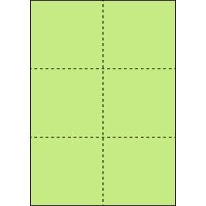 A4 ミシン目用紙 6分割タイプ 色上質(鶯色)【厚み:コピー用紙(35kg)】2000枚|kiuchi-printing