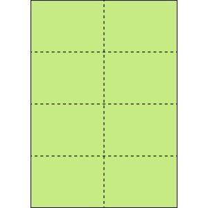 A4 ミシン目用紙 8分割タイプ 色上質(鶯色)【厚み:コピー用紙(35kg)】2000枚|kiuchi-printing