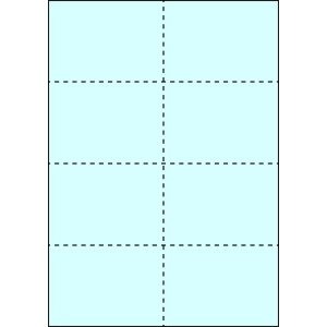 A4 ミシン目用紙 8分割タイプ 色上質(空色)【厚み:やや厚め(44.5k)】2000枚|kiuchi-printing