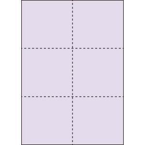 A4 ミシン目用紙 6分割タイプ 色上質(藤色)【厚み:コピー用紙(35kg)】2000枚|kiuchi-printing