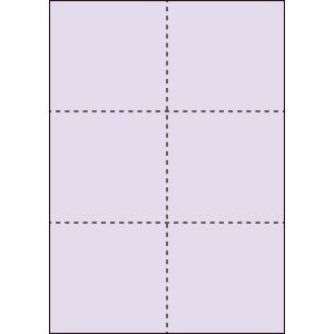 A4 ミシン目用紙 6分割タイプ 色上質(藤色)【厚み:やや厚め(44.5k)】2000枚|kiuchi-printing