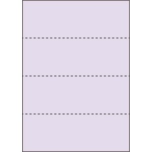 A4 ミシン目用紙 横4分割タイプ 色上質(藤色)【厚み:やや厚め(44.5k)】2000枚|kiuchi-printing