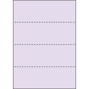 A4 ミシン目用紙 横4分割タイプ 色上質(藤色)【厚み:コピー用紙(35kg)】2000枚|kiuchi-printing
