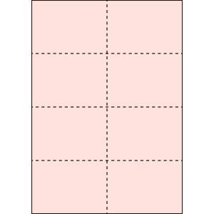 A4 ミシン目用紙 8分割タイプ 色上質(桜色)【厚み:コピー用紙(35kg)】2000枚|kiuchi-printing