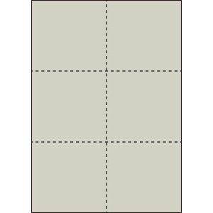 A4 ミシン目用紙 6分割タイプ 色上質(銀鼠色)【厚み:コピー用紙(35kg)】2000枚|kiuchi-printing