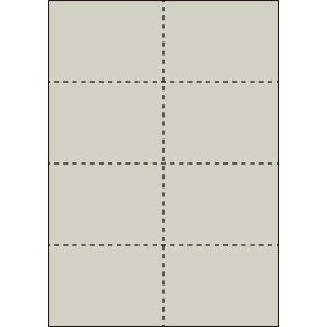 A4 ミシン目用紙 8分割タイプ 色上質(銀鼠色)【厚み:コピー用紙(35kg)】2000枚|kiuchi-printing