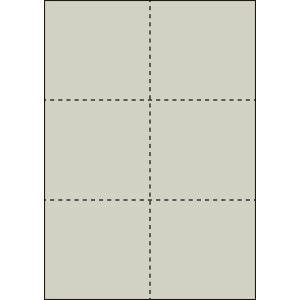 A4 ミシン目用紙 6分割タイプ 色上質(銀鼠色)【厚み:やや厚め(44.5k)】2000枚|kiuchi-printing