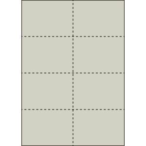 A4 ミシン目用紙 8分割タイプ 色上質(銀鼠色)【厚み:やや厚め(44.5k)】2000枚|kiuchi-printing