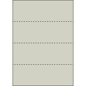 A4 ミシン目用紙 横4分割タイプ 色上質(銀鼠色)【厚み:コピー用紙(35kg)】2000枚|kiuchi-printing
