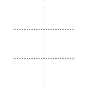 A4 ミシン目用紙 6分割タイプ 上質(白色)【厚み:やや厚め(44.5k)】2000枚|kiuchi-printing