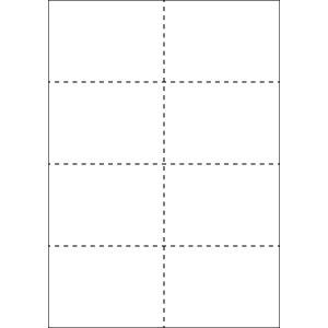 A4 ミシン目用紙 8分割タイプ 上質(白色)【厚み:やや厚め(44.5k)】2000枚|kiuchi-printing
