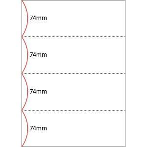 A4 ミシン目用紙 横4分割タイプ 上質(白色)【厚み:コピー用紙(35kg)】2000枚|kiuchi-printing|02