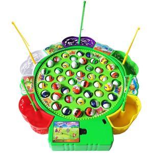釣りゲーム 電動回転 くるくるお魚釣り フィッシング 音楽 知育おもちゃ 遊び 子供 誕生日 クリスマス プレゼント 注文キャンセル不可