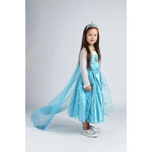 アナと雪の女王 エレサ風ドレス マント付きダイヤモンドドレス コスプレ衣装 クリスマスプレゼント kiumibaby