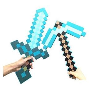 ソード ツルハシ 2点 セット グッズ コスプレ 刀 剣 武具 フォーム ダイアモンド ピックアクス ソード マインクラフト ダイヤモンドソード&斧