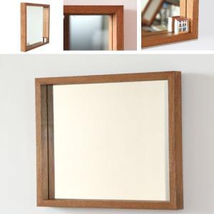 木枠 鏡 壁掛け 北欧 無垢材 オーク材 450×550mm 洗面所 おしゃれ アンティーク 洗面 鏡 木枠 木製 ウォールミラー 姿見|kiwakuya