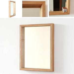 木枠 鏡 壁掛け 北欧 無垢材 タモ材 450×550mm 洗面所 おしゃれ アンティーク 洗面 鏡 木枠 木製 ウォールミラー 姿見|kiwakuya