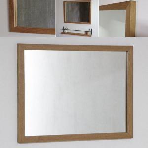 木枠 鏡 壁掛け 北欧 無垢材 オーク材 650×500 枠幅30mm 洗面所 おしゃれ アンティーク 洗面 鏡 木枠 木製 ウォールミラー 姿見|kiwakuya