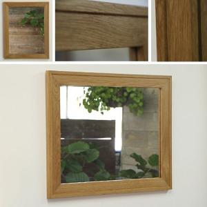 木枠 鏡 壁掛け 北欧 無垢材 オーク ダブルフレーム ミラー 710×560mm 洗面所 おしゃれ アンティーク 洗面 鏡 木枠 木製 ウォールミラー 姿見|kiwakuya