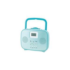 コイズミ ワイドFM対応シャワーCDラジオ(ブルー) SAD-4309-A|kiwami-honpo