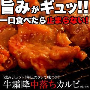カルビ 牛カルビ 焼肉 500g 中落ち 霜降り セット 味付け 冷凍 業務用 〔A冷凍〕|kiwami-honpo