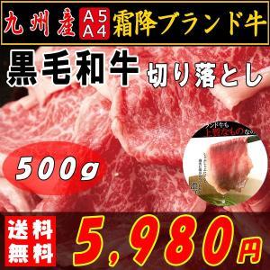 肉 焼肉 焼き肉 黒毛和牛 すき焼き 切り落とし 霜降り 九州産 A4・A5等級 500g 〔A冷凍〕|kiwami-honpo