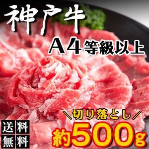 神戸牛 切り落とし 無選別 霜降り ブランド牛 焼肉 しゃぶしゃぶ  500g|kiwami-honpo