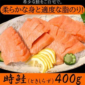 鮭 希少 時鮭 ときしらず 北海道 知床 ギフト 贈答 送料無料 刺身 400g|kiwami-honpo