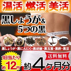 黒しょうが&5つの黒 サプリ ダイエット 国産 日本製  サプリメント 送料無料 大量 ポイント消化  約4ヵ月分 〔120日分×1袋〕〔発送まで1~2週間〕|kiwami-honpo
