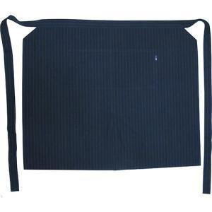 小倉織 紺縞霜降 前掛け 給仕型|kiya-hamono