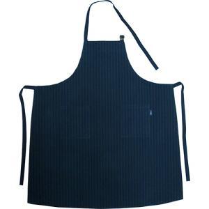 小倉織 紺縞霜降 前掛け 調理型|kiya-hamono