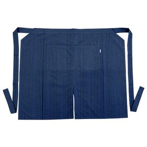 小倉織 木屋紺縞霜降2018ゆらぎ 前掛け 給仕型|kiya-hamono