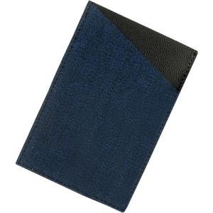 小倉織 紺霜降 カードケース|kiya-hamono