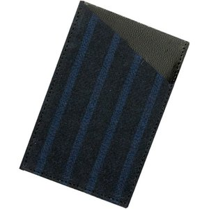 小倉織 紺縞霜降 カードケース|kiya-hamono