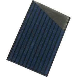 小倉織 紺縞霜降2016 カードケース|kiya-hamono