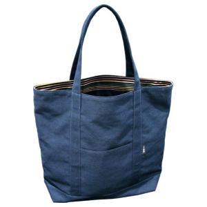 小倉織紺霜降 トートバッグ タテ型 見附#49|kiya-hamono