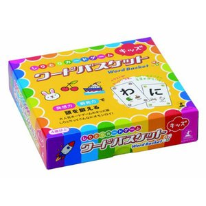 しりとりを使った大ヒットカードゲーム「ワードバスケット」のキッズ版!  箱の中にあるカードの文字で始...